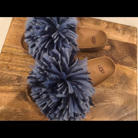 d83b66e14cc UGG Australia Cindy Suede Yarn Fringe Slides